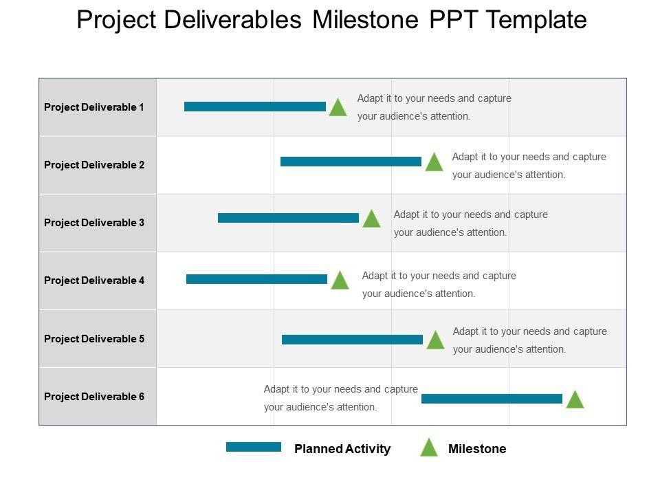 Project Deliverables Milestone Ppt Template Slide01 Slide02