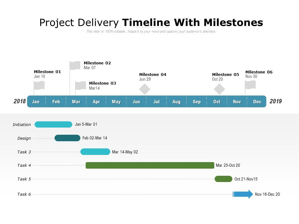 Project Delivery Timeline With Milestones