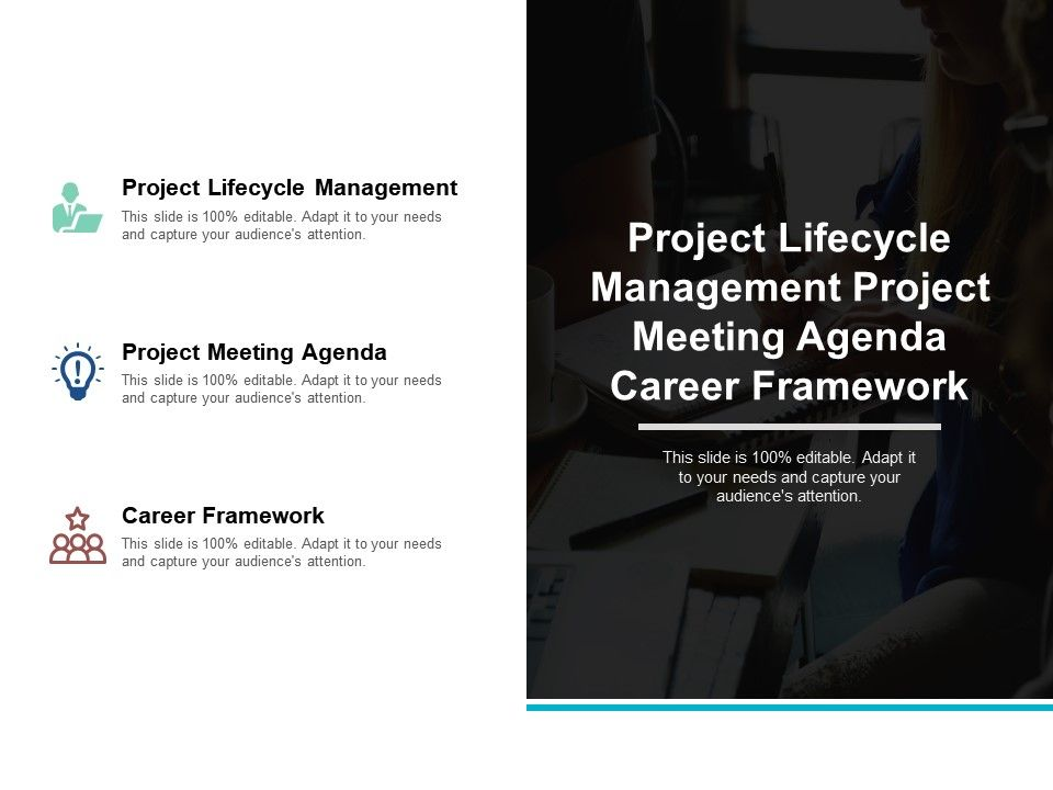 project_lifecycle_management_project_meeting_agenda_career_framework_cpb_Slide01