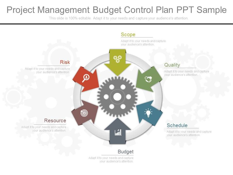 Project Management Budget Control Plan Ppt Sample | Templates