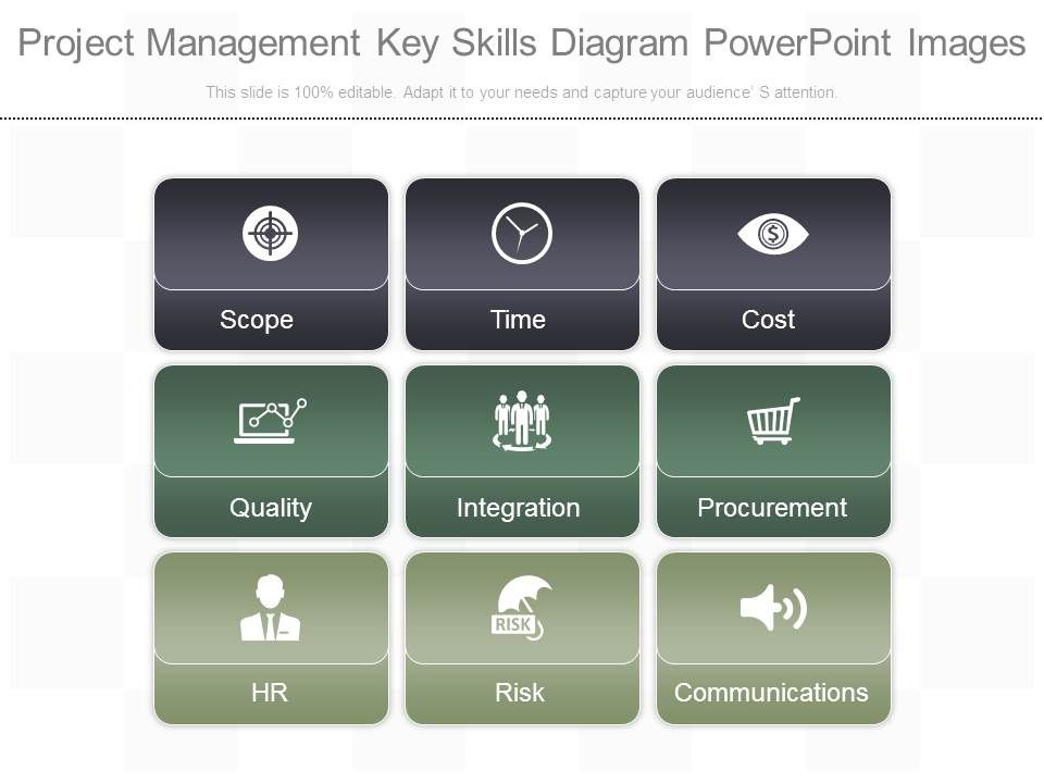 project_management_key_skills_diagram_powerpoint_images_Slide01