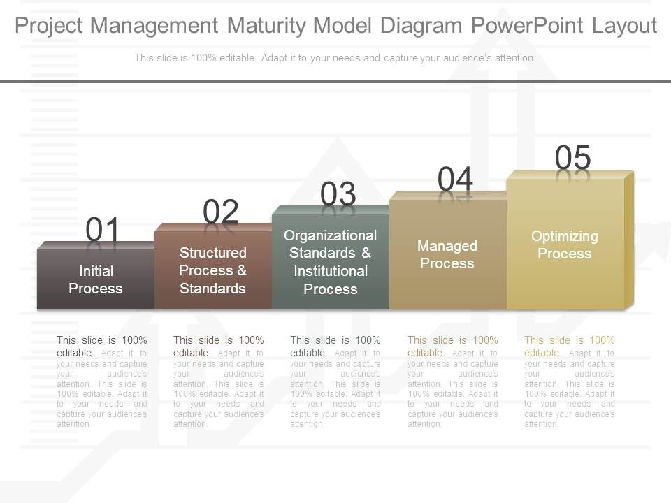 project management maturity model diagram powerpoint layout