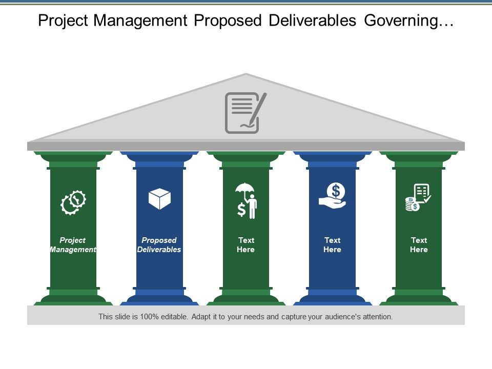 project_management_proposed_deliverables_governing_values_learning_practices_Slide01