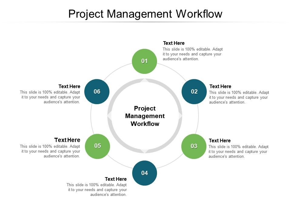 Project Management Workflow Ppt Powerpoint Presentation Slides Topics Cpb
