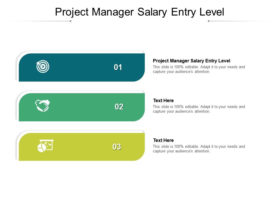 Project Manager Salary Entry Level Ppt Powerpoint Presentation Model Pictures Cpb