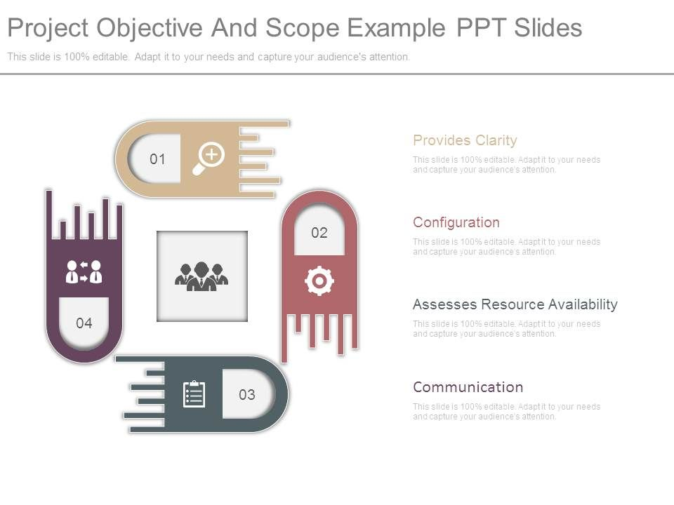 project objective and scope example ppt slides | templates, Presentation templates