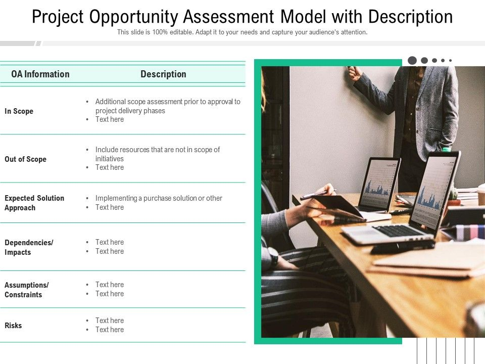 Project Opportunity Assessment Model With Description