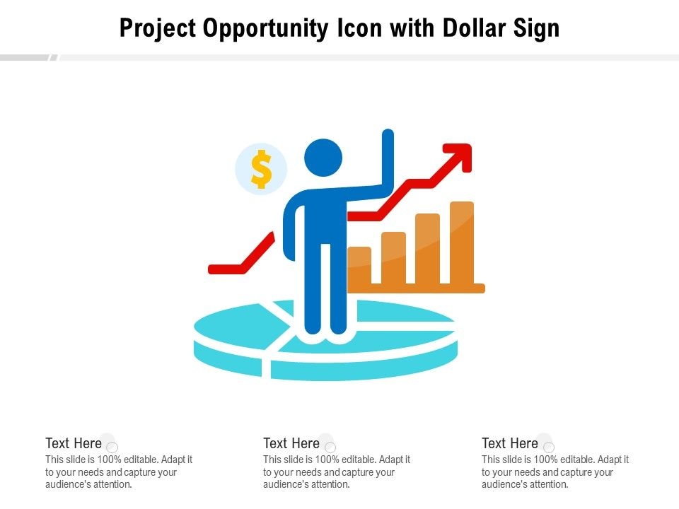 Project Opportunity Icon With Dollar Sign