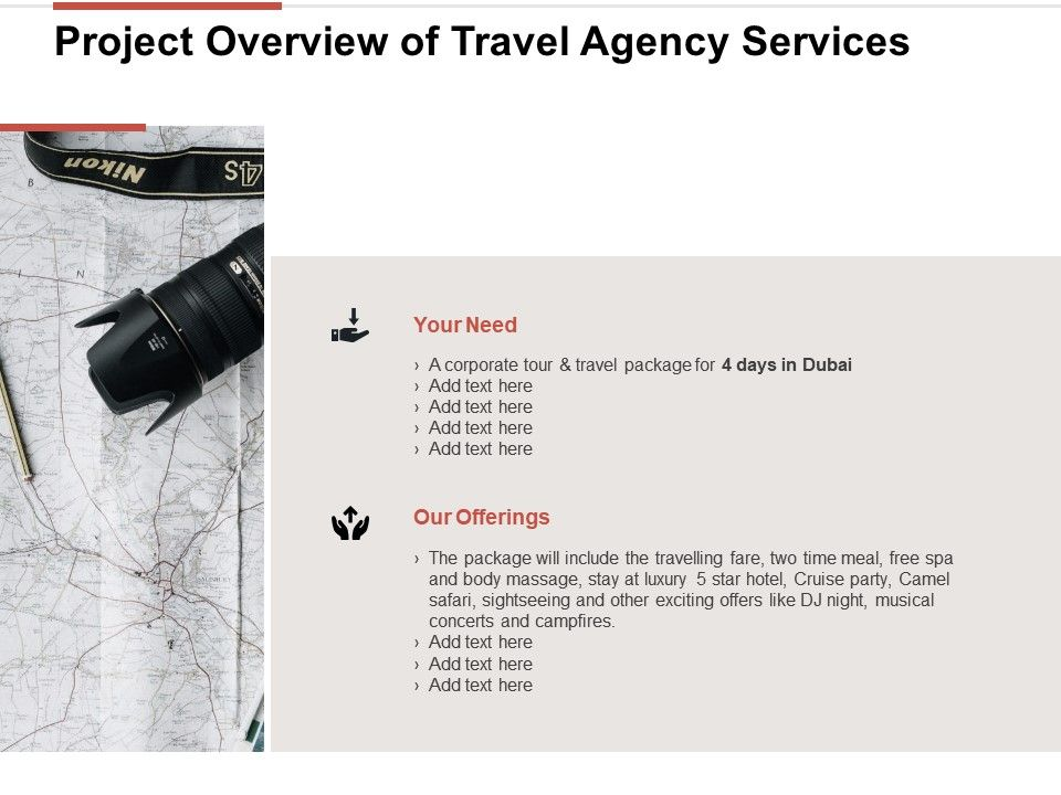 Project Overview Of Travel Agency Services Ppt Powerpoint Slides Ideas