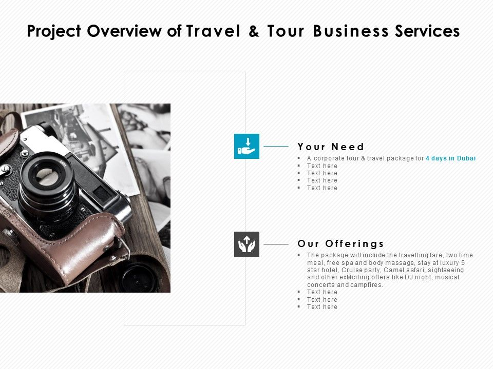 Project Overview Of Travel And Tour Business Services Ppt Powerpoint Presentation Inspiration