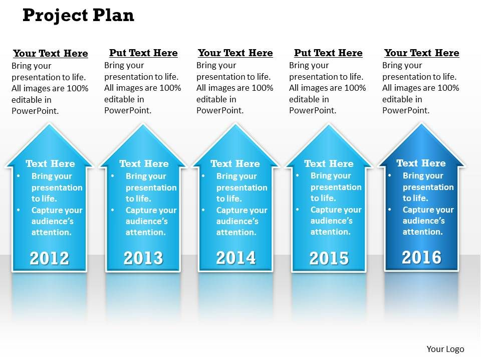 Project Plan PowerPoint Template Slide