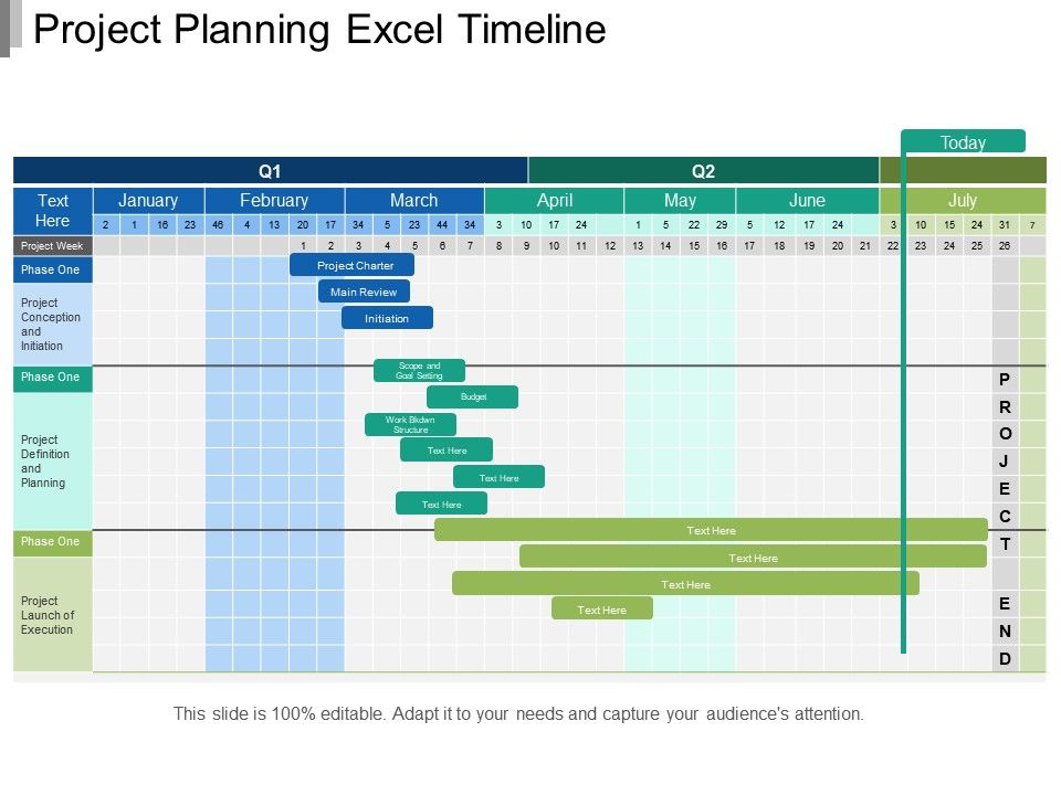 Project Planning Excel Timeline | PowerPoint Templates ...