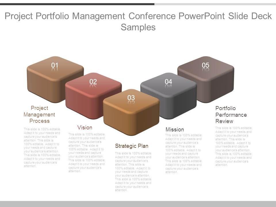 skillfully designed strategy presentation showing project portfolio management conference. Black Bedroom Furniture Sets. Home Design Ideas