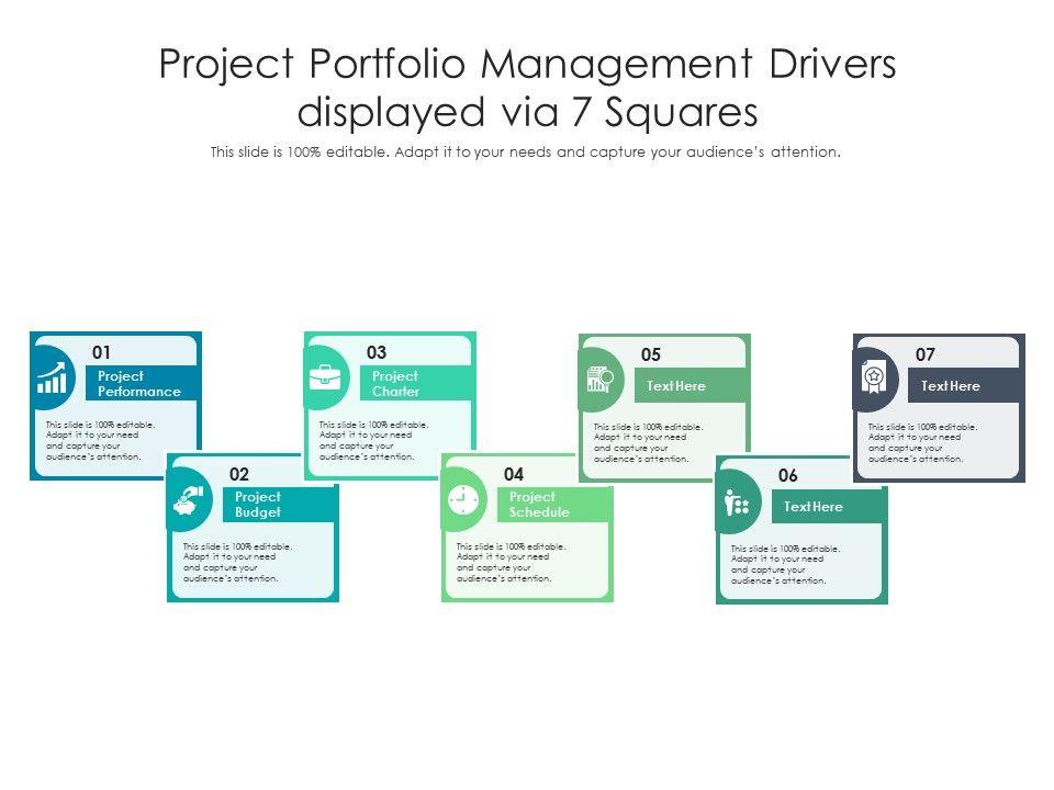Project Portfolio Management Drivers Displayed Via 7 Squares