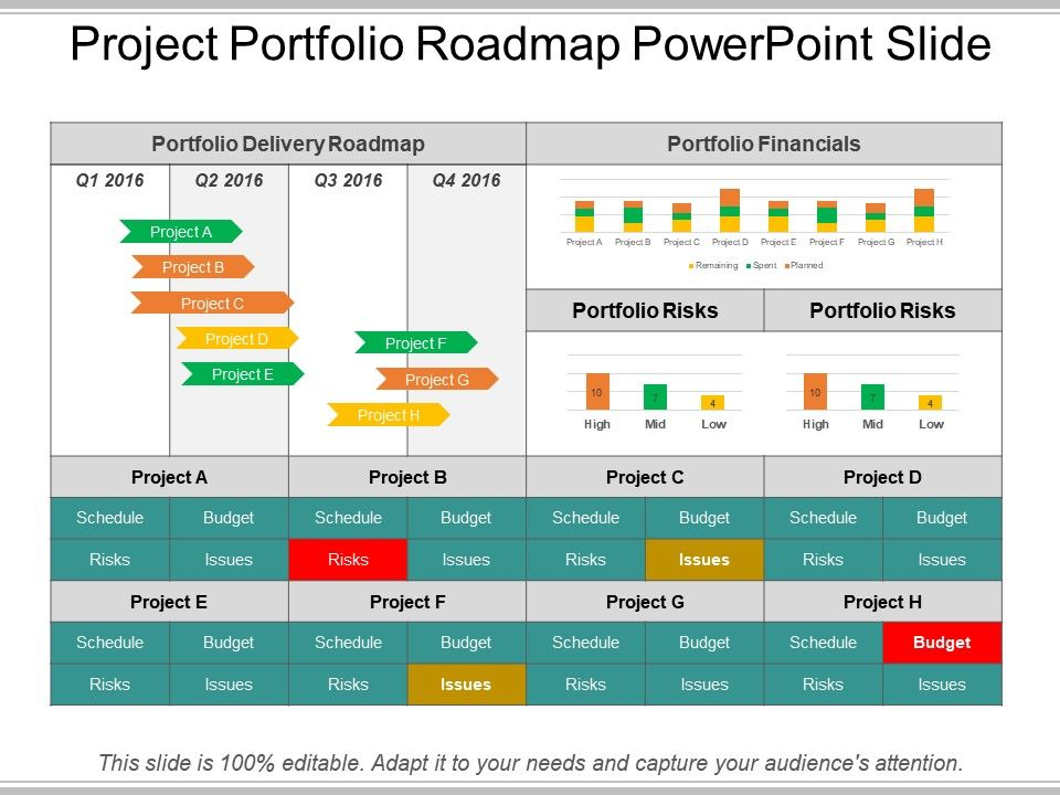 Project Portfolio Roadmap Powerpoint Slide Presentation PowerPoint