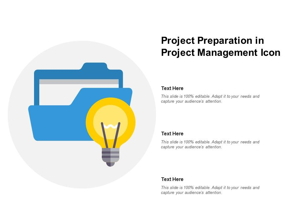 Project Preparation In Project Management Icon