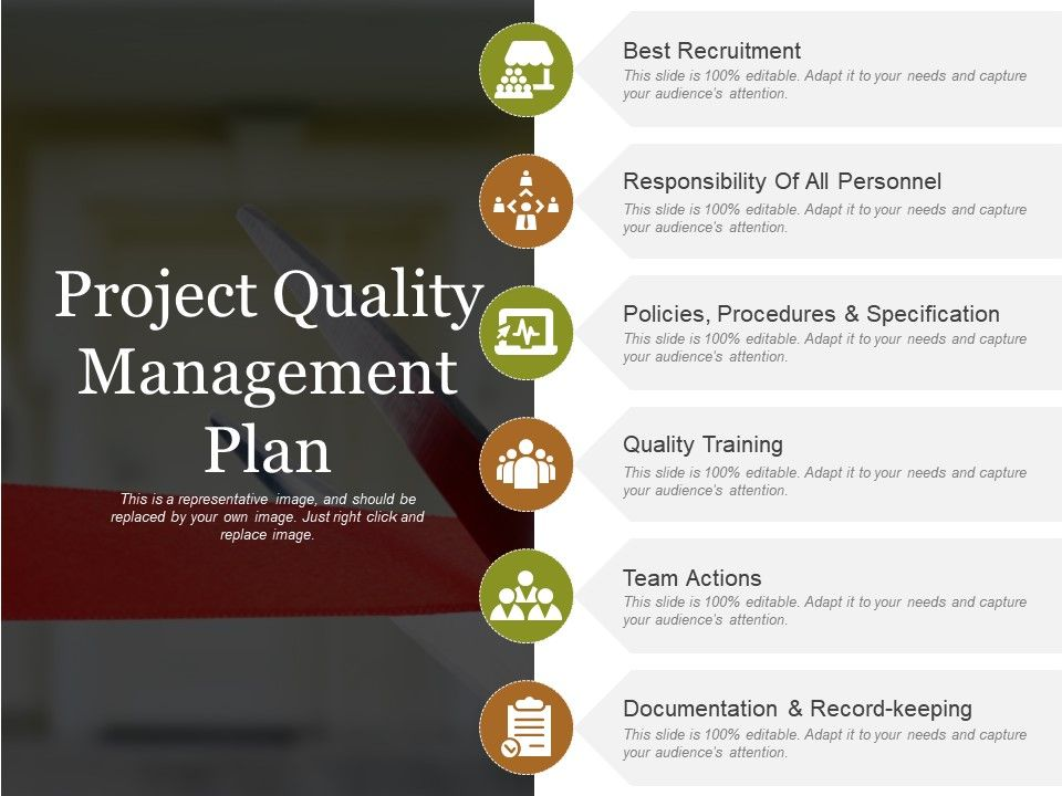 Project Quality Management Plan Powerpoint Templates Powerpoint Slide Images Ppt Design Templates Presentation Visual Aids