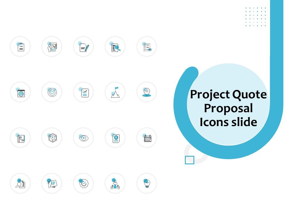 Project Quote Proposal Icons Slide Ppt Powerpoint Presentation Gallery Styles