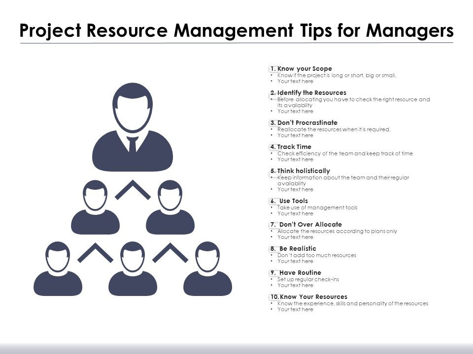 Project Resource Management Tips For Managers