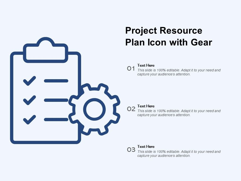 Project Resource Plan Icon With Gear