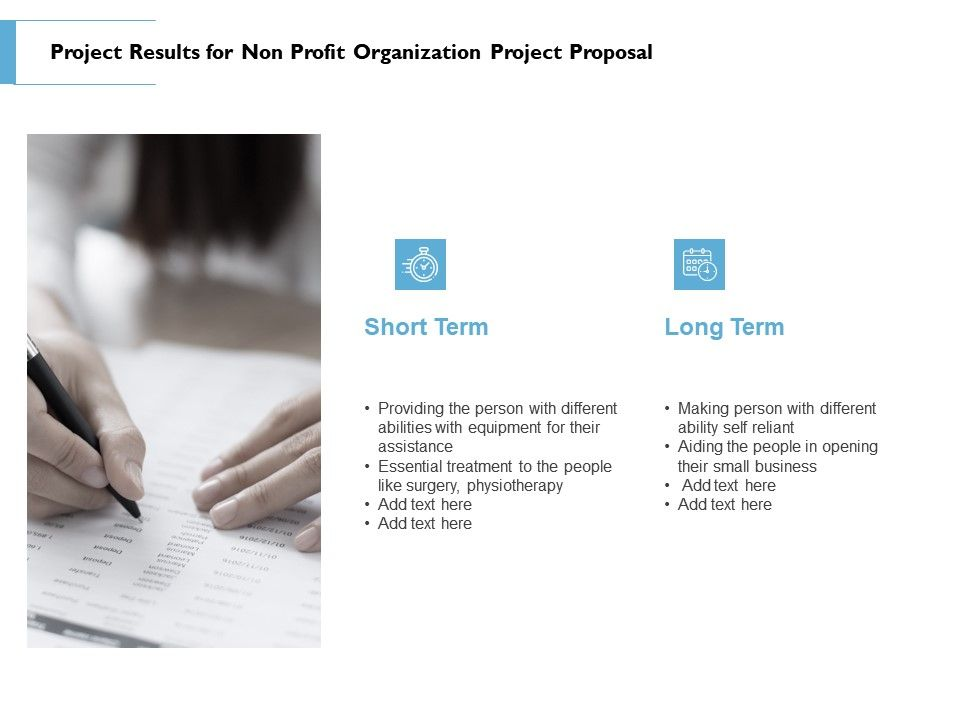 Project Results For Non Profit Organization Project Proposal Ppt Powerpoint Microsoft