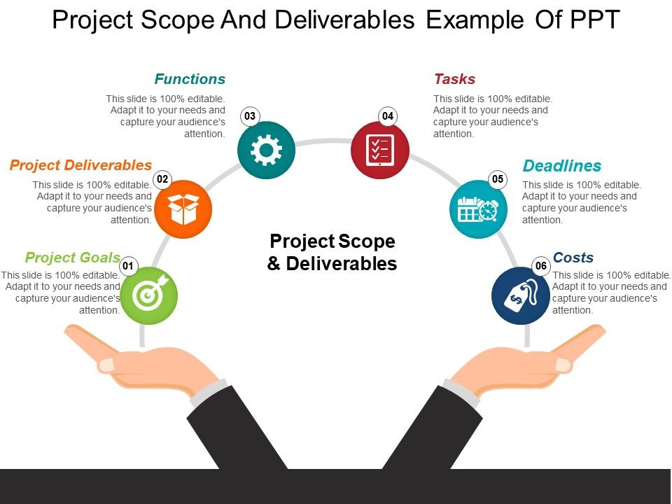 project deliverable template - 50956276 style circular semi 6 piece powerpoint