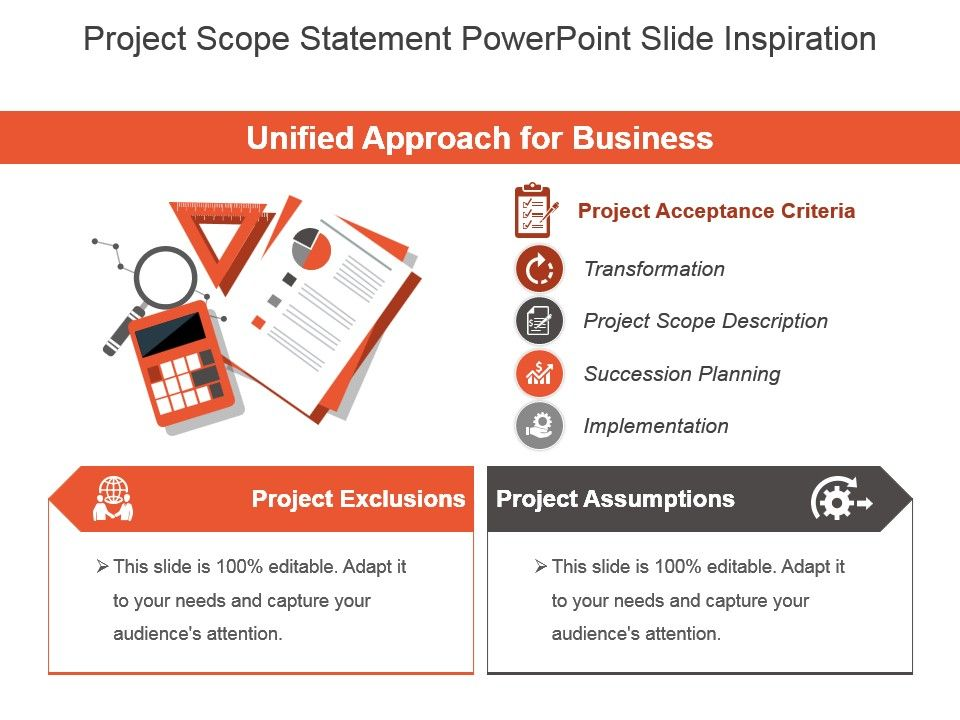 project scope statement powerpoint slide inspiration | powerpoint, Presentation templates