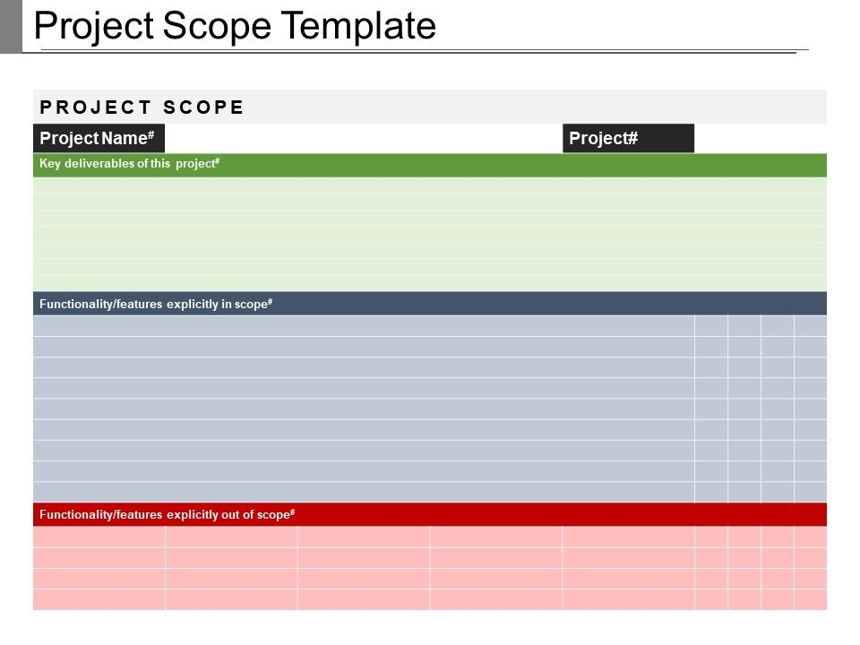 Project Scope Template Example Of Ppt Presentation  Powerpoint