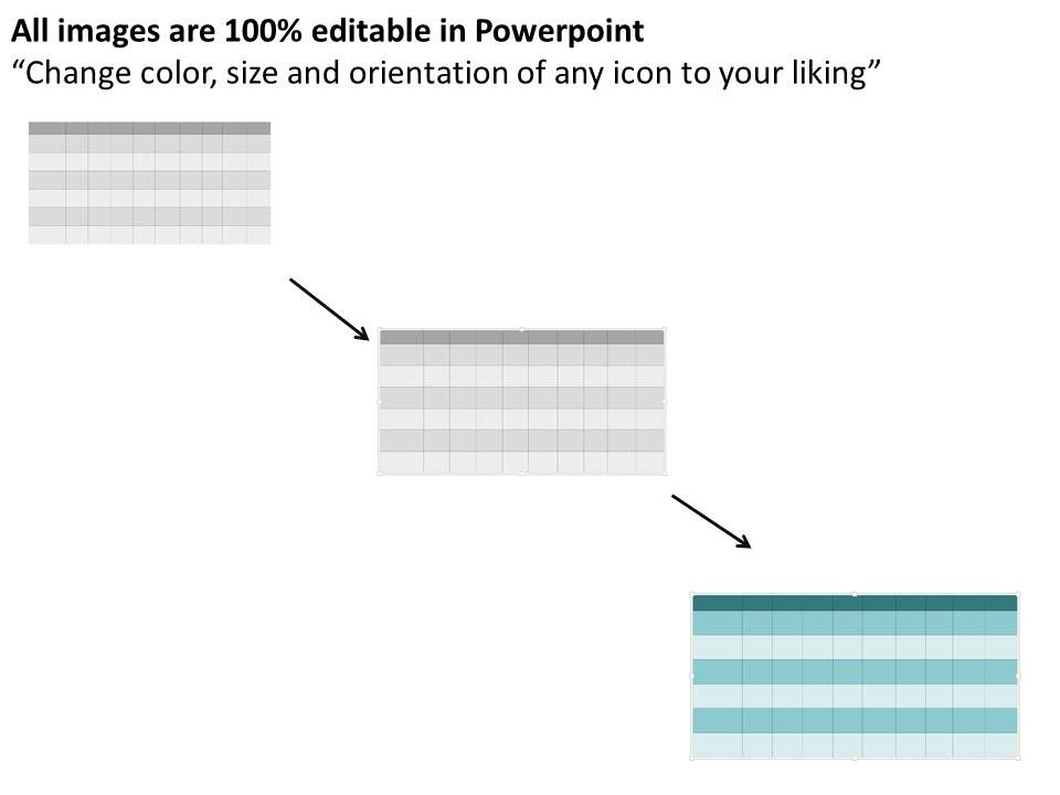 project status chart for analysis flat powerpoint design