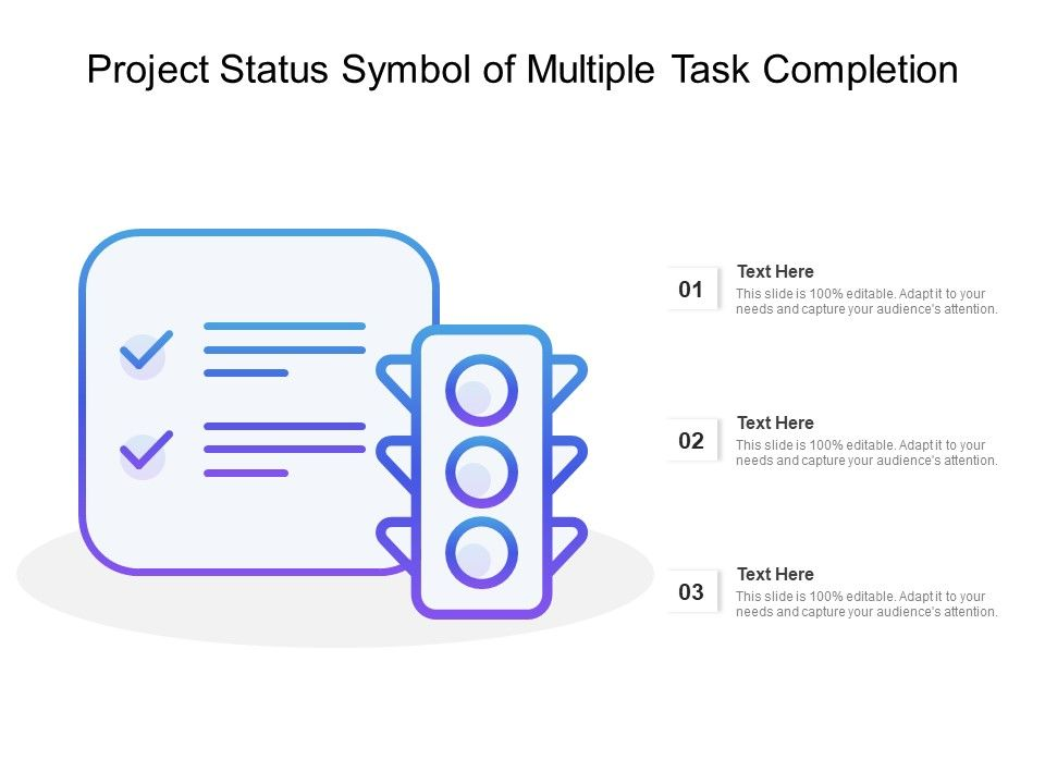 Project Status Symbol Of Multiple Task Completion