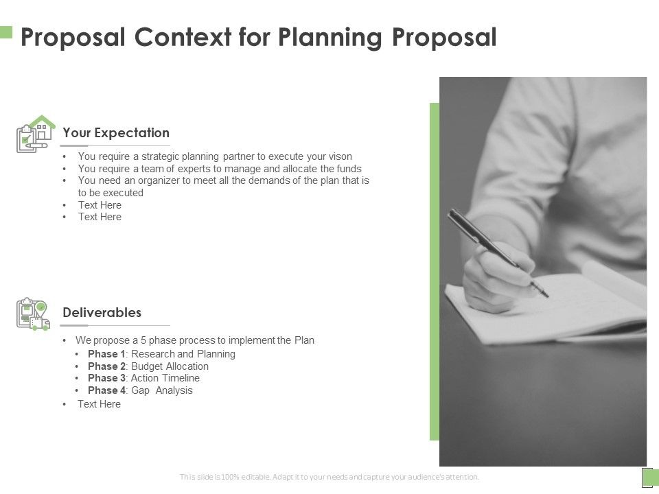 Proposal Context For Planning Proposal Ppt Powerpoint Presentation Professional Gallery