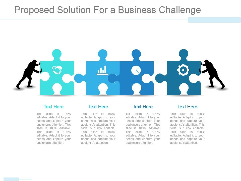 Proposed Solution For A Business Challenge Ppt Examples