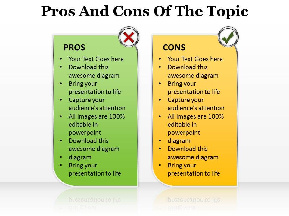 pros and cons template word