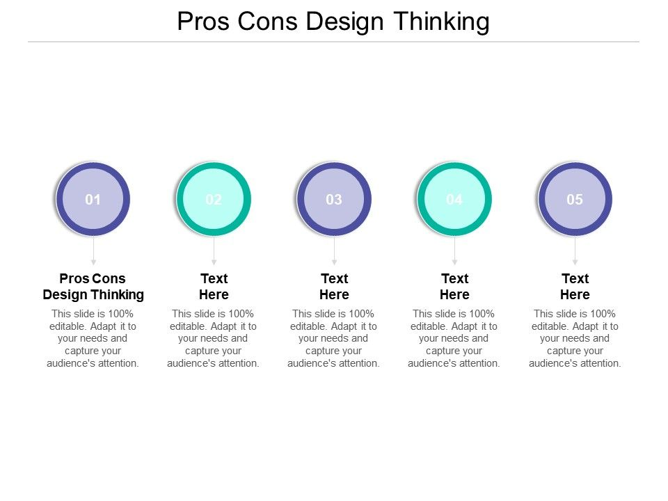 Pros Cons Design Thinking Ppt Powerpoint Presentation Icon Example Topics Cpb