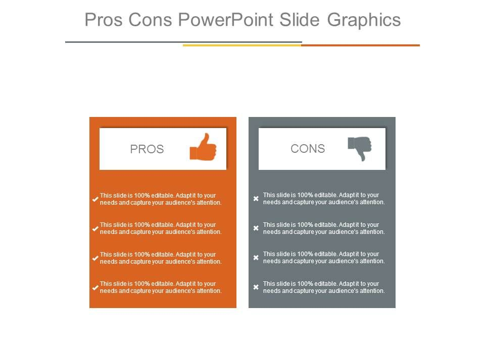 pros cons powerpoint slide graphics powerpoint presentation
