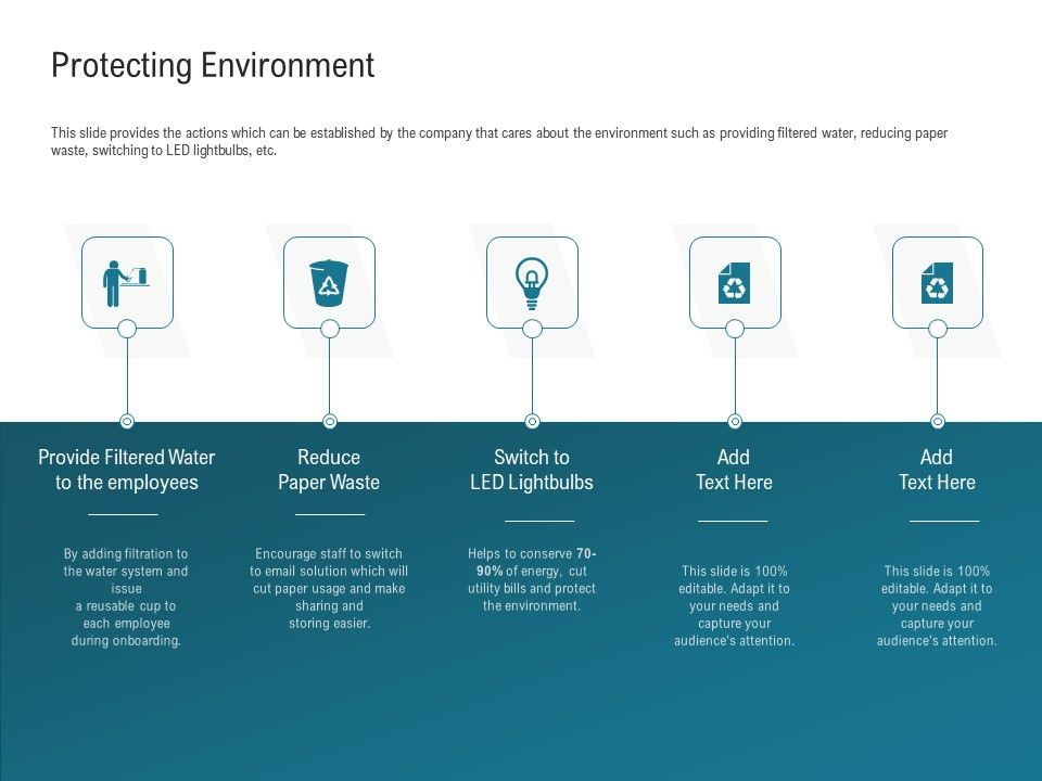 Protecting Environment Filtered Water Ppt Powerpoint Presentation File Outline