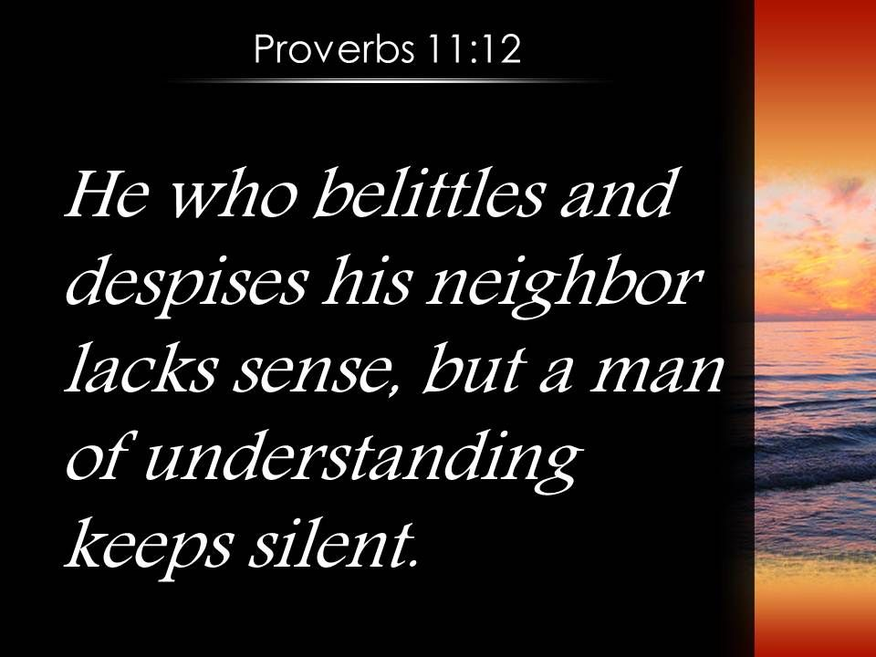 proverbs 11 12 who have understanding hold their tongues powerpoint church sermon