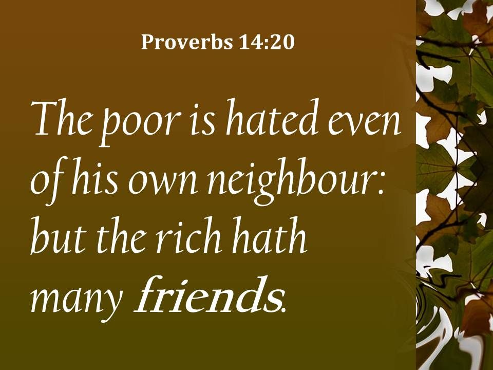 Proverbs Friendship Sermon : Proverbs the rich have many friends powerpoint
