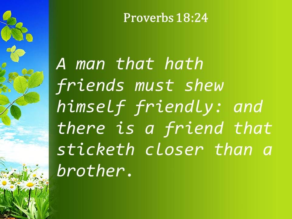 Proverbs Friendship Sermon : Proverbs there is a friend who sticks powerpoint