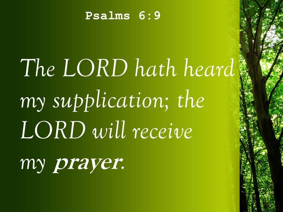 psalms 6 9 the lord accepts my prayer powerpoint church sermon