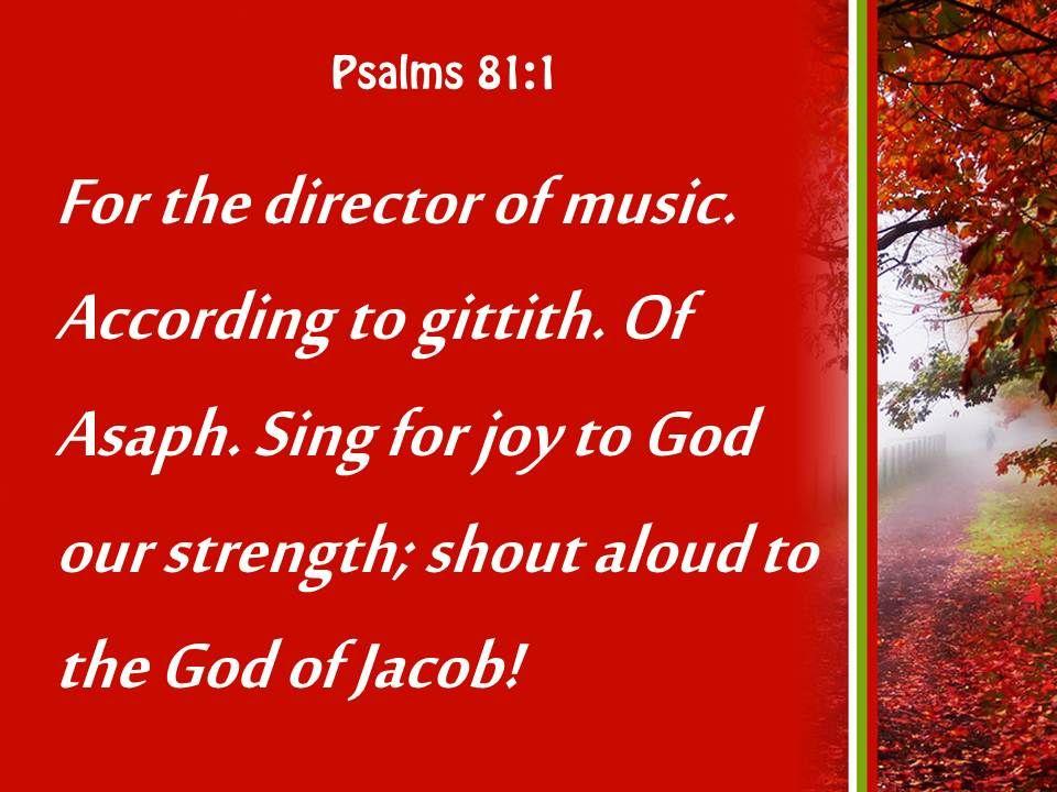 Psalms 81 1 Sing For Joy To God Powerpoint Church Sermon