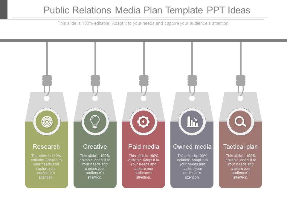 public relations media plan template ppt ideas powerpoint