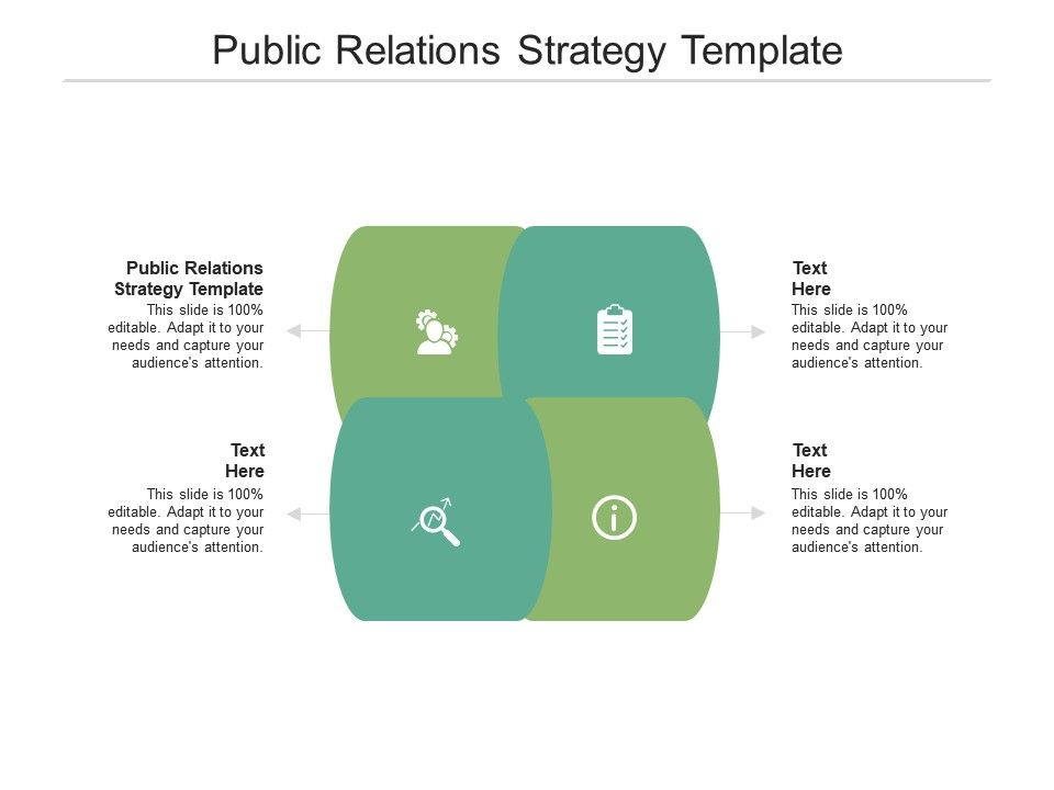 Public Relations Strategy Template Ppt Powerpoint Presentation Slides Smartart Cpb