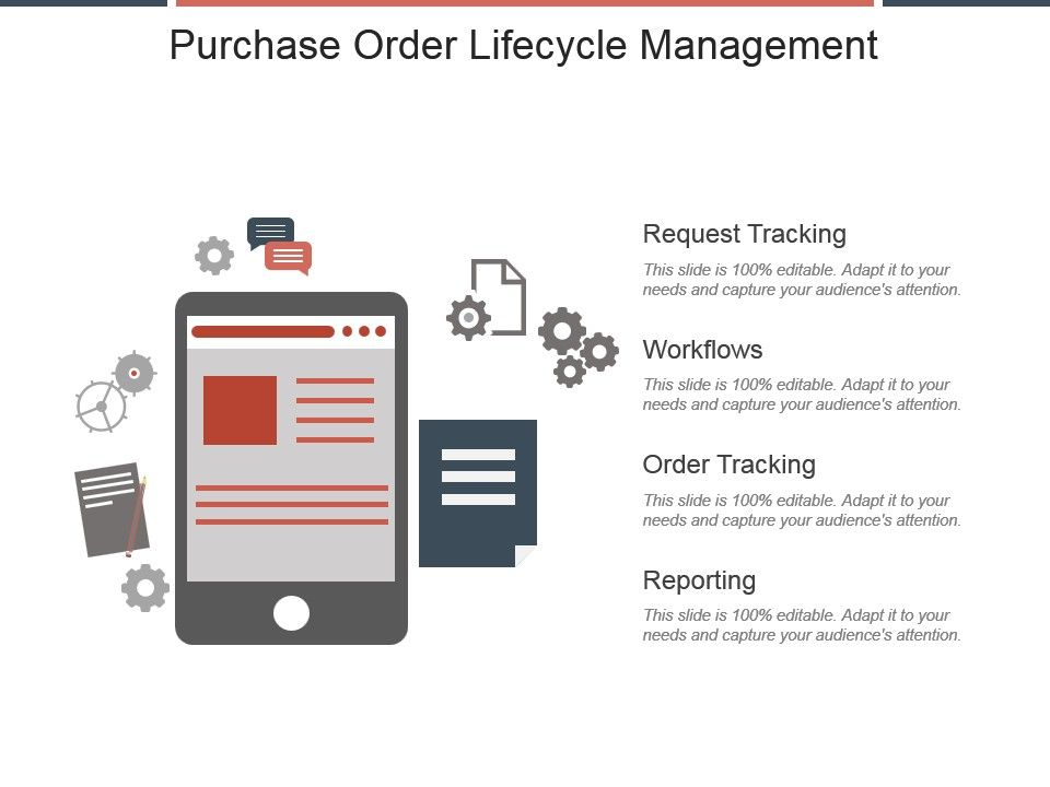 Purchase Order Lifecycle Management Ppt Slide Template Powerpoint