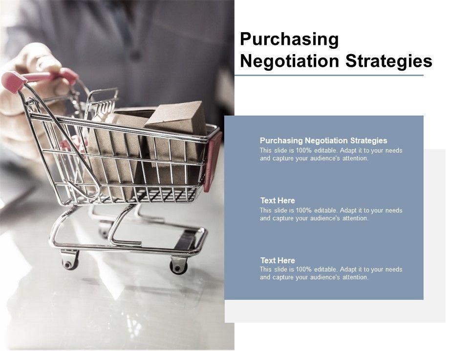Purchasing Negotiation Strategies Ppt Powerpoint Presentation Portfolio Format Cpb