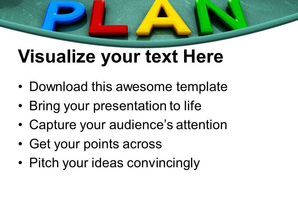 put your plan into action blackboard powerpoint templates ppt themes