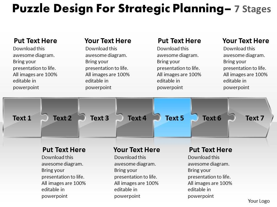 puzzle design for strategic planning 7 stages wire schematic powerpoint templates