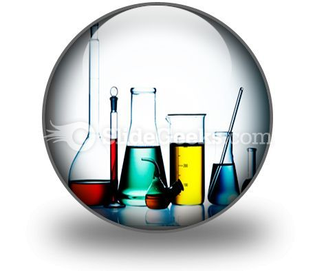 Assorted Laboratory Glassware PowerPoint Icon C  Presentation Themes and Graphics Slide01