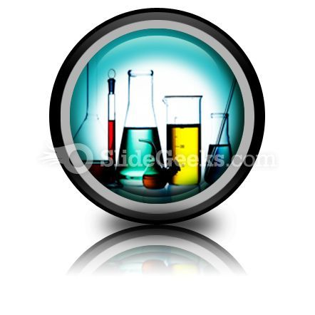 Assorted Laboratory Glassware PowerPoint Icon Cc  Presentation Themes and Graphics Slide01
