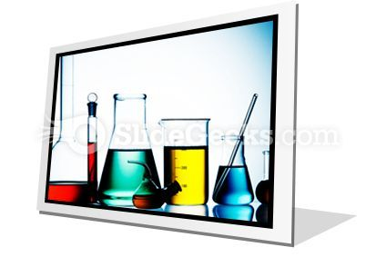 Assorted Laboratory Glassware PowerPoint Icon F  Presentation Themes and Graphics Slide01